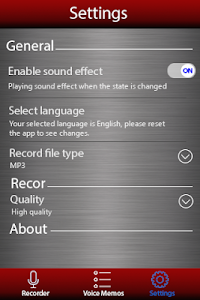 screenshot of Voice recorder version 1.26.284