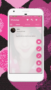 screenshot of WA Theme Pink mod cantik version 1.0