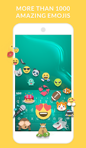 screenshot of Wave Keyboard + Animated Themes, Emoji and GIFs version 1.52.6
