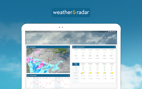 screenshot of Weather & Radar - Free version Varies with device