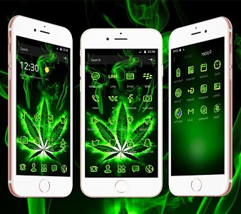 screenshot of Weed Rasta Skull Theme version 1.1.14