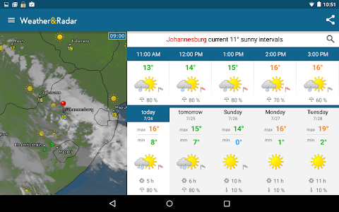 screenshot of Weather & Radar version 3.7.0