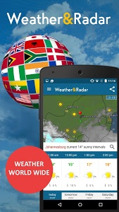 screenshot of Weather & Radar version 3.8.3