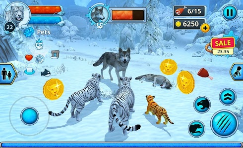 screenshot of White Tiger Family Sim Online version 1.3.1