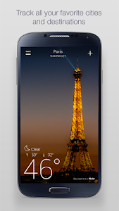 screenshot of Yahoo Weather version Varies with device
