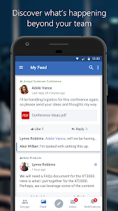 screenshot of Yammer version Varies with device