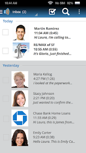 screenshot of YouMail Visual Voicemail version 3.12.29