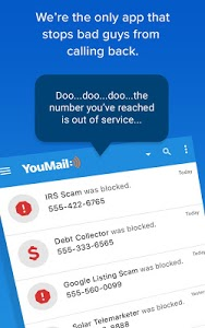 screenshot of YouMail Voicemail & Spam Call Blocker version 4.5.0a