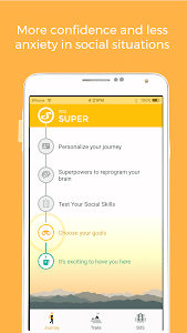 screenshot of Youper - Less Social Anxiety version 3.02.001