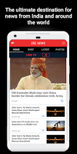 screenshot of Zee News Live version 4.0.5