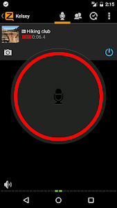 screenshot of Zello PTT Walkie Talkie version 4.18