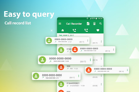 screenshot of call recorder version 4.0.3