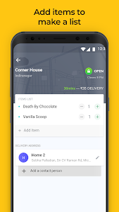 screenshot of Dunzo: 24x7 delivery version 1.6.5.5