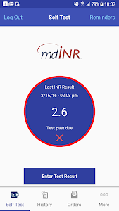 screenshot of mdINR version Varies with device