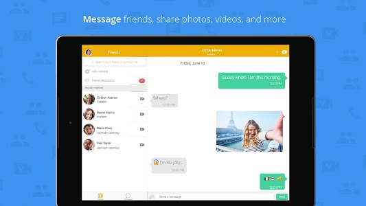 screenshot of ooVoo Video Call, Text & Voice version 3.1.8