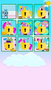screenshot of unicorn care game version 1.0
